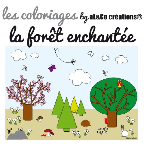 Coloriage La forêt enchantée