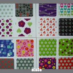 lot de 12 mini stickers à fleurs