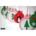 Boules de Noël kit couture