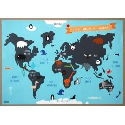 affiche Les animaux du monde