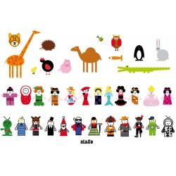 cartes à colorier thème animaux
