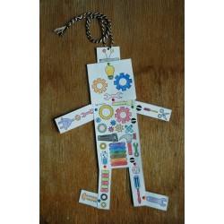 Robot pantin en papier