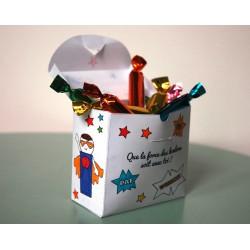 la boîte à bonbons superhéros