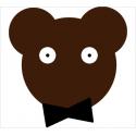 Coupon de tissu ours Louis le super chic