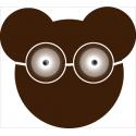 Coupon de tissu ours Barnabé et ses lunettes