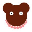 Coupon de tissu ours Paulette la coquette