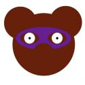 Coupon de tissu ours Elliot le super héros