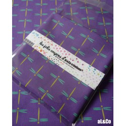 Libellules coupon de tissu