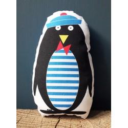 Pingouin marin mini poupée doudou