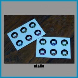 lot de 12 mini stickers kokeshis