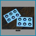 lot de 12 mini stickers kokeshis