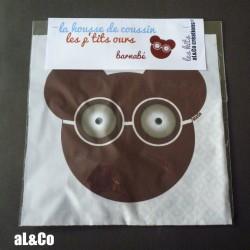 Kit coussin ours Barnabé et ses lunettes