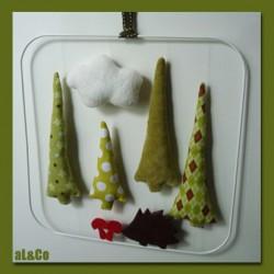 le mobile de mr hérisson et les champignons kit couture