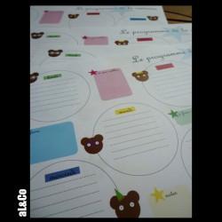 calendrier semainier avec des ours - pack de 10 feuilles A4