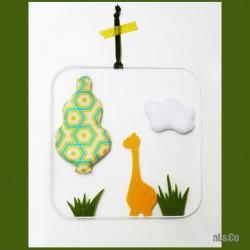 le mobile Mme Girafe dans la savane kit couture