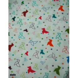 Mini cocottes origami coupon de tissu