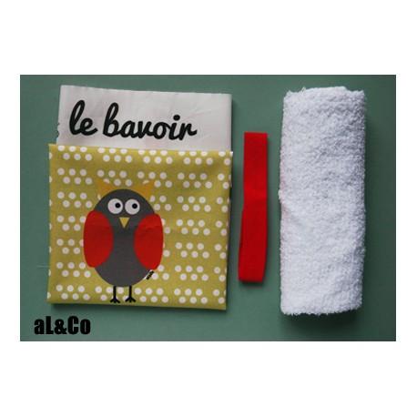kit bavoir hibou