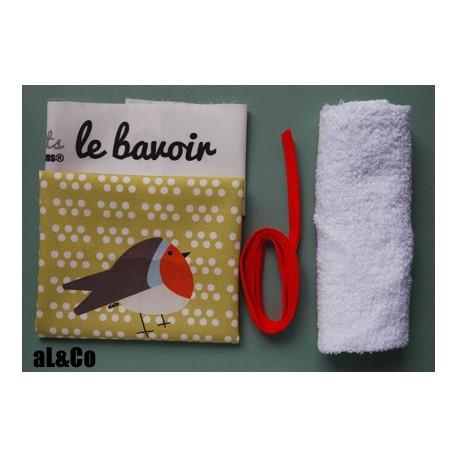 kit bavoir joli rouge-gorge