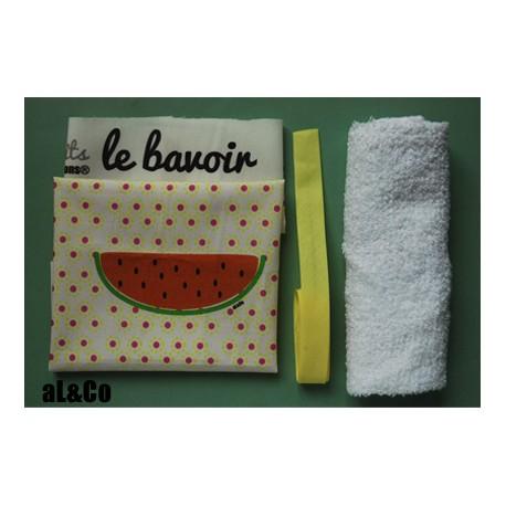 kit bavoir pastèque