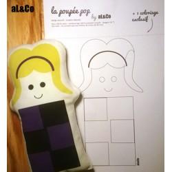 Mademoiselle Pop - mini poupée doudou