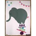 affiche éléphant de cirque