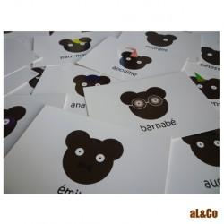 lot de 4 cartes les petits ours
