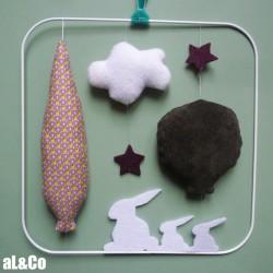 le mobile aux petits lapins kit couture