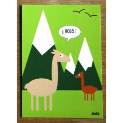 carte postale Hello le pingouin