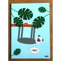carte postale Hola le paresseux