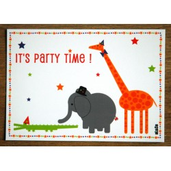carte postale anniversaire - it's party time
