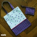 kit du sac tote bag fleurs et libellules